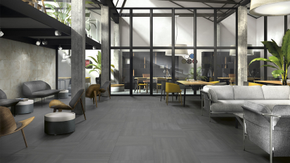 Hall contemporary furniture grey porcelain stoneware