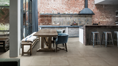 Loft concrete look industrial ceramic tiles