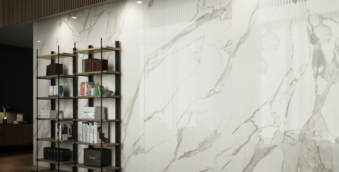 Marble look wall Living room