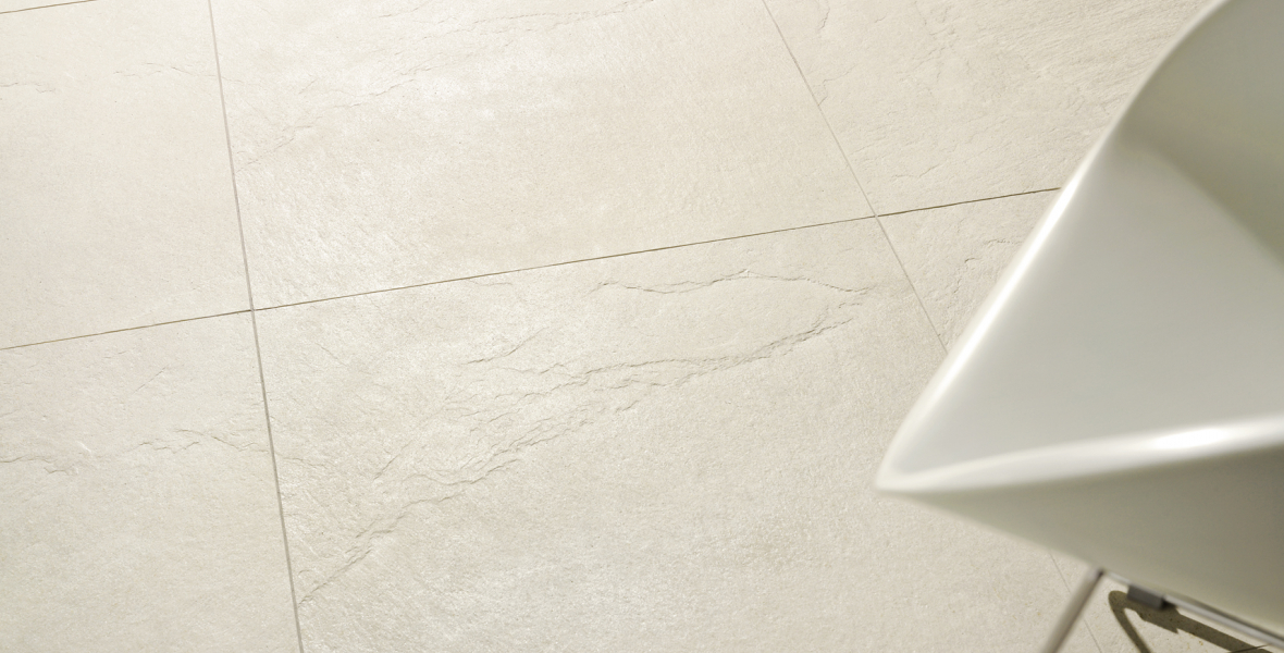 White stone effect ceramic tiles