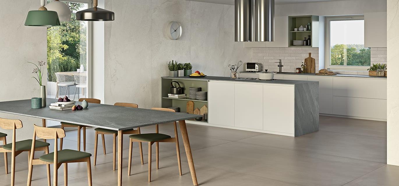Gres Porcellanato Piastrelle Cucina porcelain kitchen tiles | ceramiche caesar