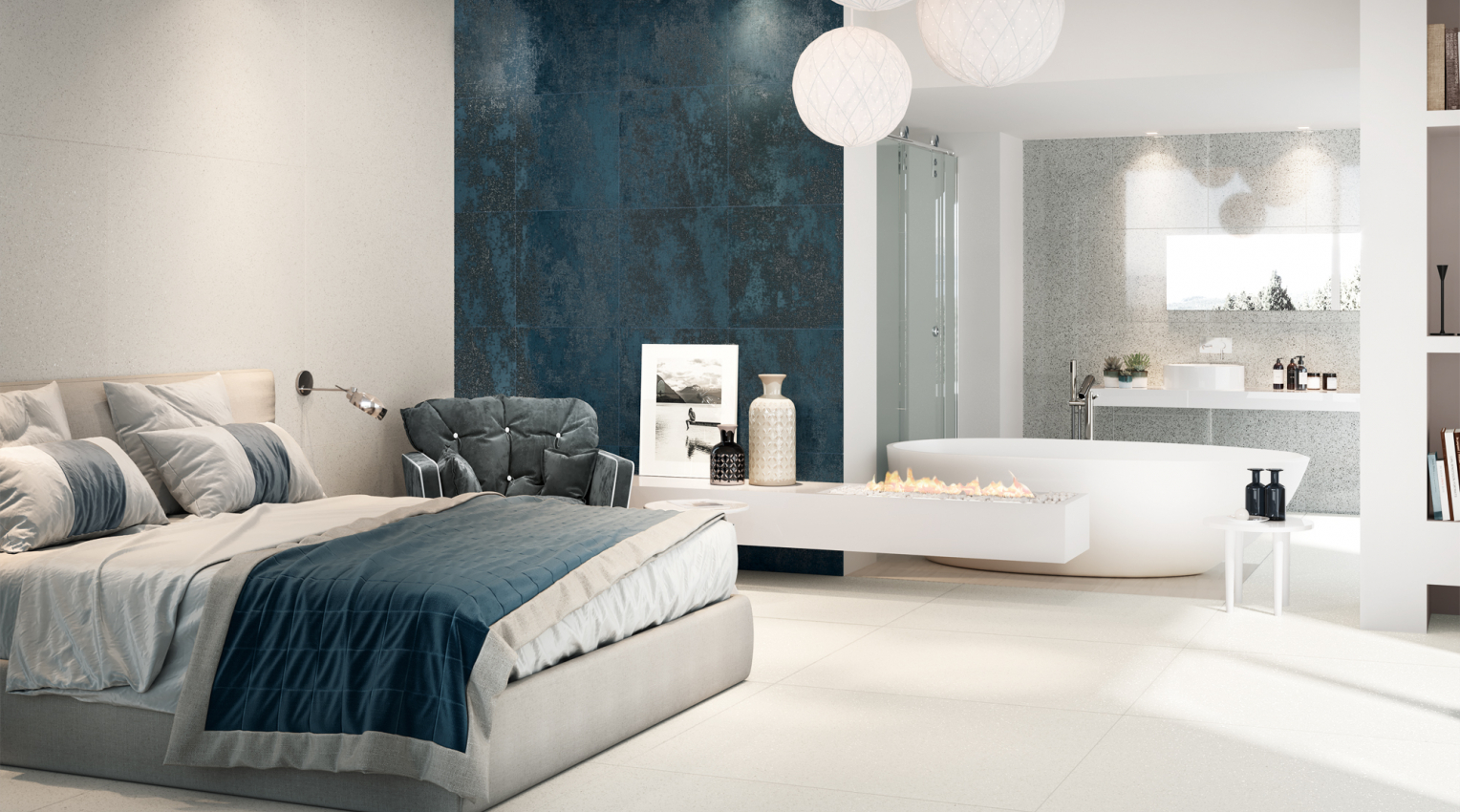 Bedroom blue and white inspiration2