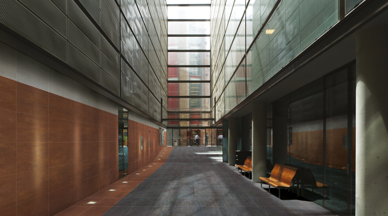 Corten and metal look floors and walls