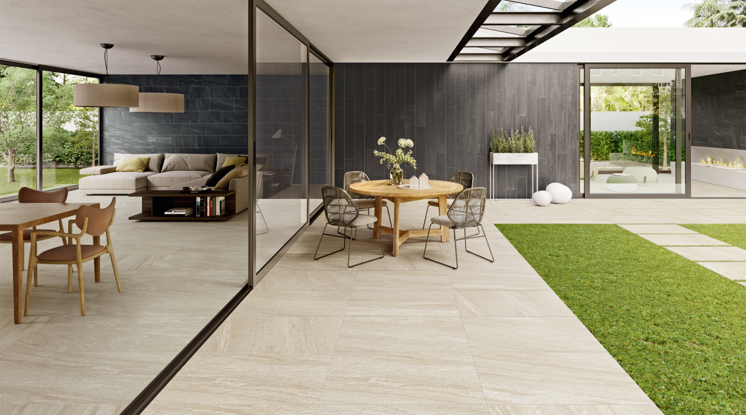 Indoor Outdoor stone tiles Clash Caesar2