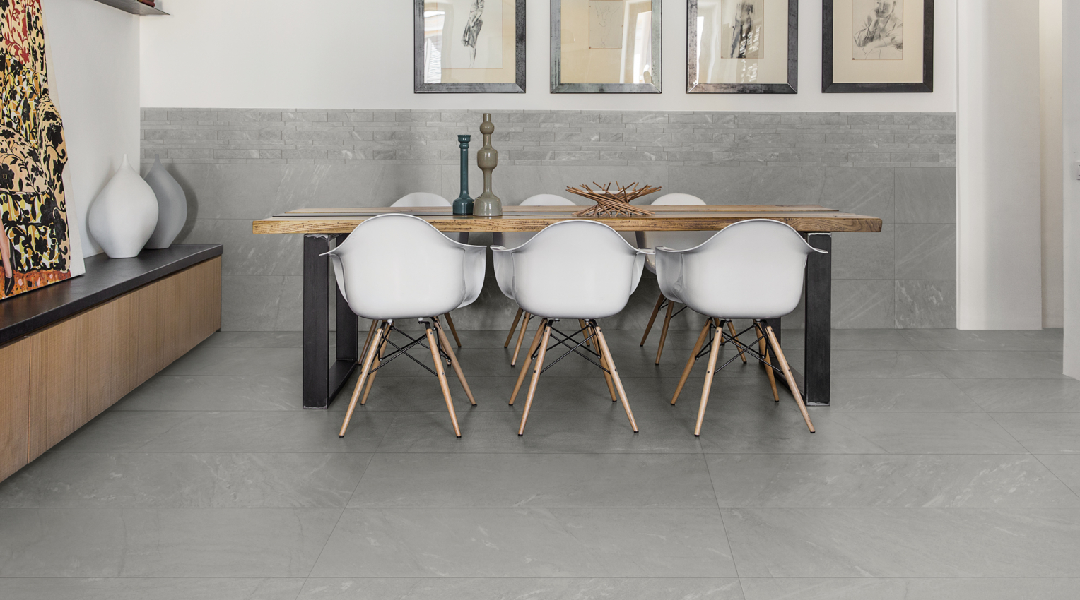 Light Grey ceramic tiles