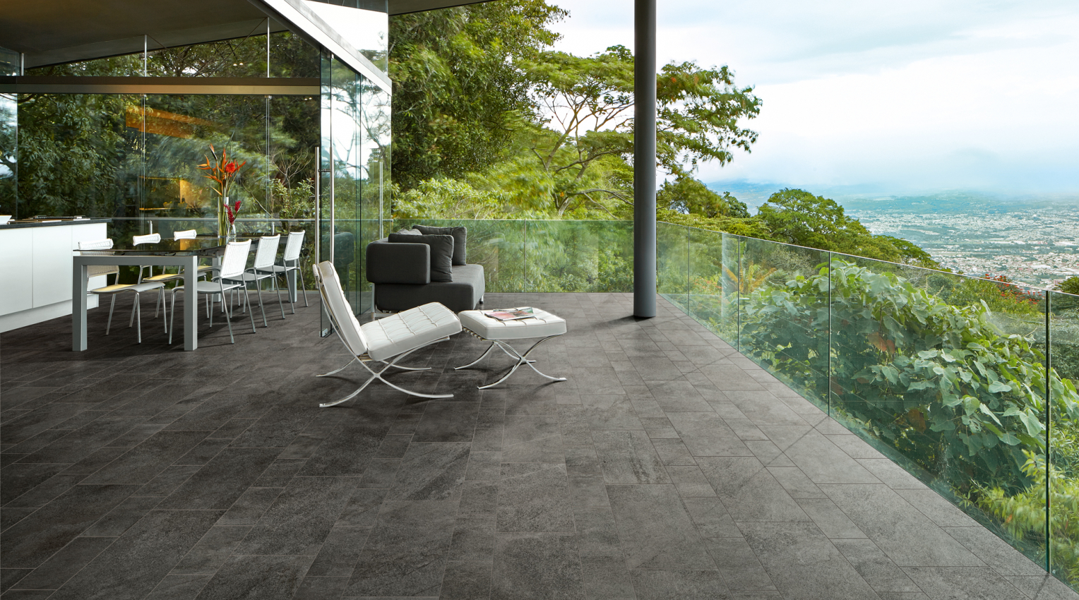 Terrace inspirational wood effect floor
