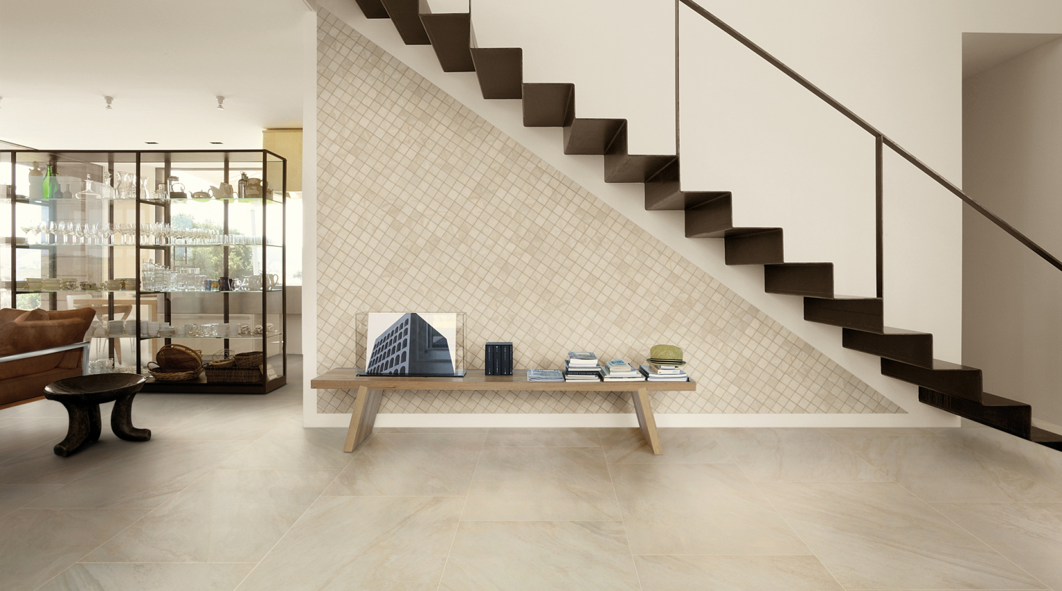 quartzite look ceramic porcelain tiles white