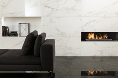 Living room marble look
