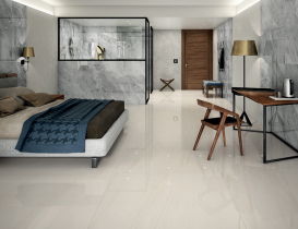 Bedroom Anima Select Caesar Grigio Boreale Bianco Alpino marble effect