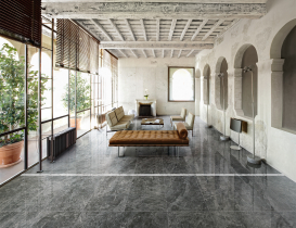 grey marble look living room