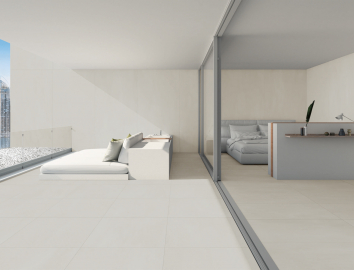 In Out bedroom concrete look