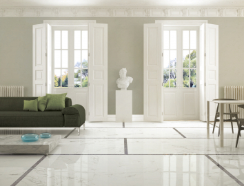 Marble look elegant living