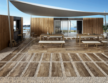 Outdoor Tiles Wood Look Ceramic