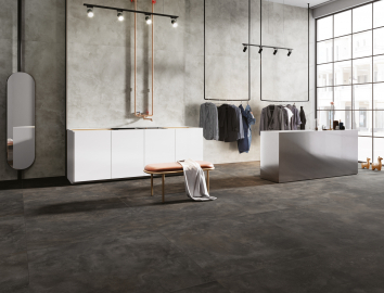 Retail store contemporary design floors and walls
