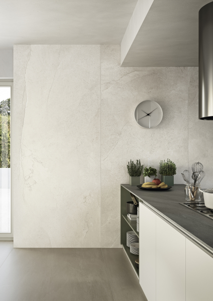 Full wall tiles stone look