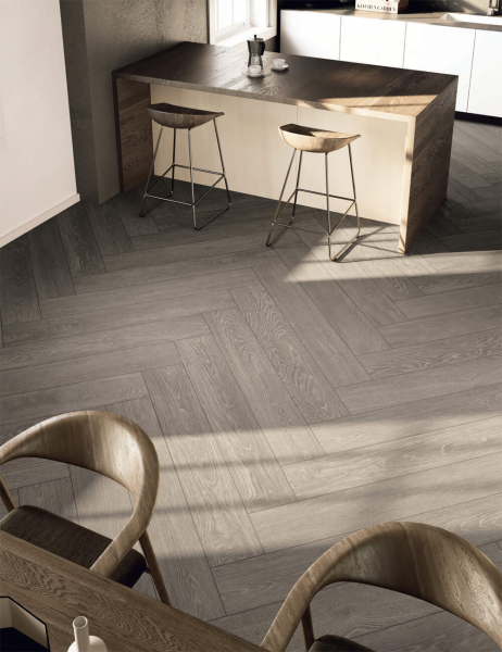 Natural wood porcelain tiles