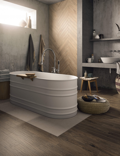 ceramic wood listels bathroom