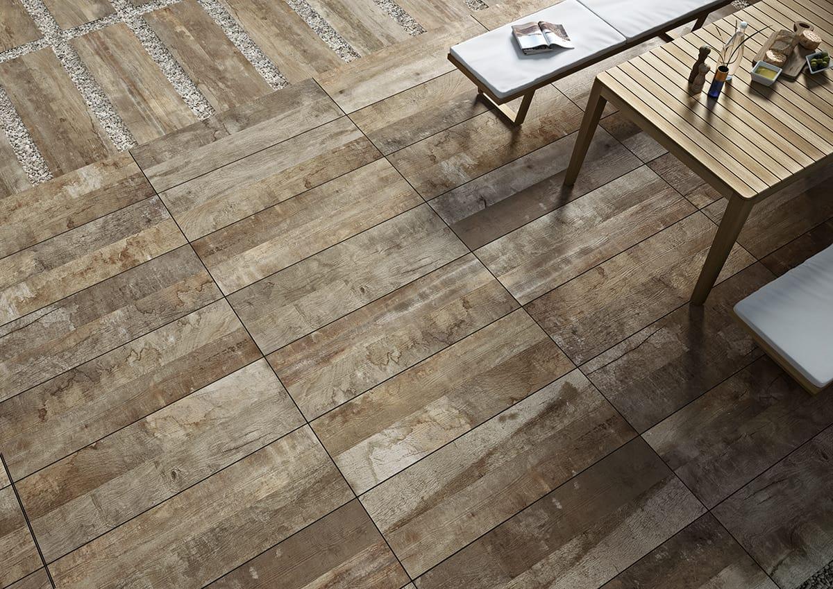 Mattonelle Simil Parquet Prezzi grès porcellanato effetto legno per esterni | ceramiche caesar